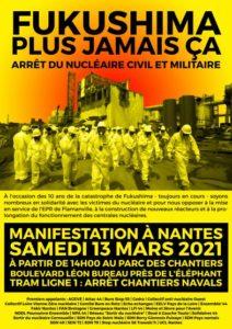 Nantes : Manif Antinucléaire 13 mars