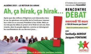 Algérie : Débat sur Zoom- 10 mars 2021